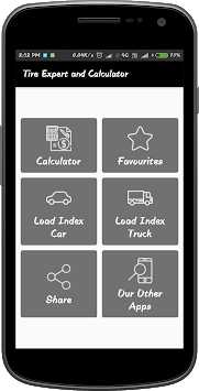 Tire Experts and Calculator APK screenshot 1