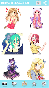 Manga Girls Color By Number: Paint Anime Pixel Art APK screenshot 2