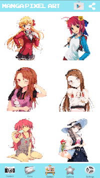 Manga Girls Color By Number: Paint Anime Pixel Art APK screenshot 3