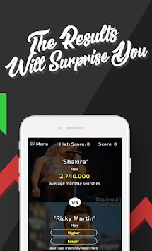 Higher or Lower: The Challenge APK screenshot 3