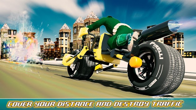 Bike Shooter Superhero: Moto Blitz Racing Shooter APK screenshot 2