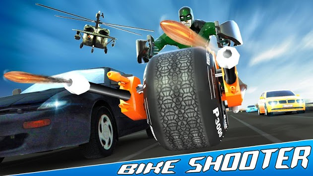 Bike Shooter Superhero: Moto Blitz Racing Shooter APK screenshot 3