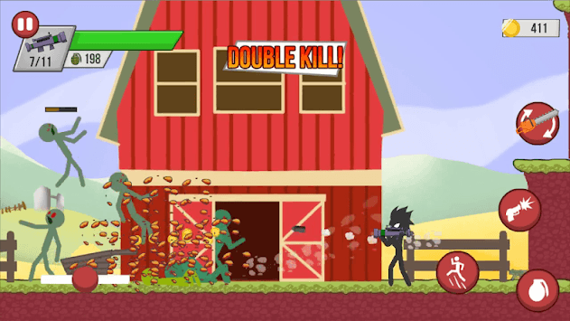 Stickman Zombie Shooter: Fight Platformer APK screenshot 1