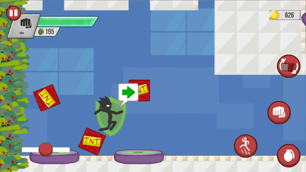 Stickman Zombie Shooter: Fight Platformer APK screenshot 2