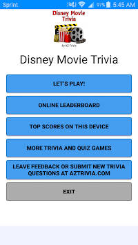 Movie Trivia: Disney Movies APK : Download v1 0 for Android