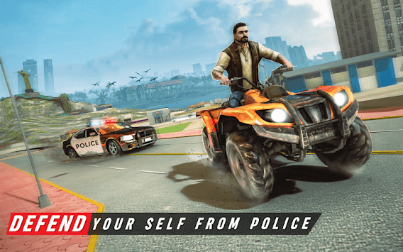 Gangster City Grand ATV Bike Crime - Quad Driving APK screenshot 1
