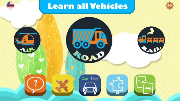 Vehicles for Kids - Flashcards, Sounds, Puzzles APK screenshot 1