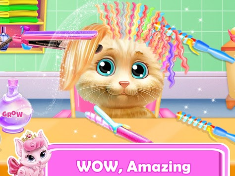 Pet Kitty Hair Salon Hairstyle Makeover APK screenshot 3