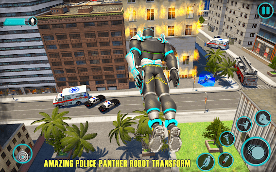 Flying Panther Speed Hero Robot Games APK screenshot 2