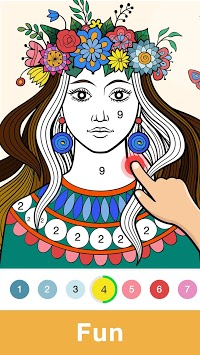 Fun Coloring - Color By Number Paint Happy & Relax APK screenshot 2