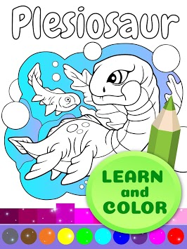 Cute Animated Dinosaur Coloring Pages APK screenshot 1