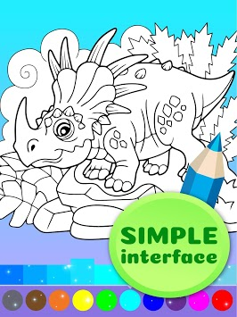Cute Animated Dinosaur Coloring Pages APK screenshot 2