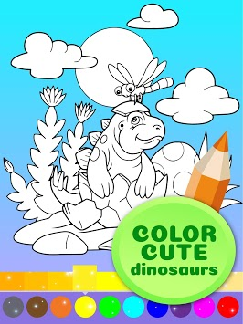 Cute Animated Dinosaur Coloring Pages APK screenshot 3