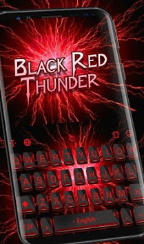 Black Red Thunder Keyboard Theme APK screenshot 2