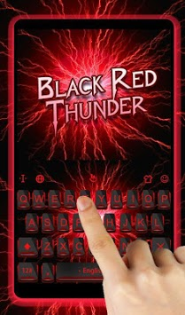 Black Red Thunder Keyboard Theme APK screenshot 3