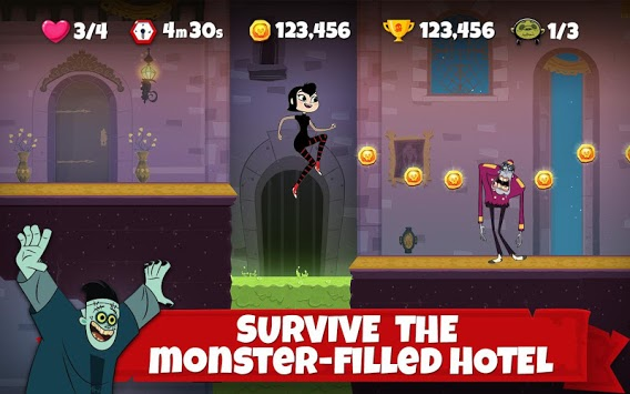 Hotel Transylvania Adventures - Run, Jump, Build! APK screenshot 1