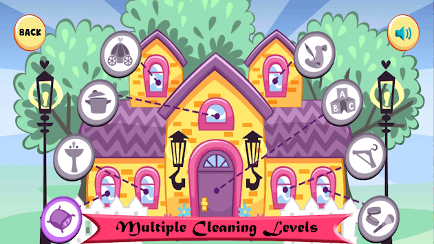 Doll House Cleaning Game for girls APK screenshot 2