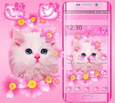 Cute Pink Kitty Cat Theme APK : Download v1 1 3 for Android