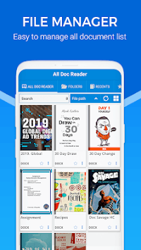 Docx Reader - Epub Reader & All Document Reader APK screenshot 2