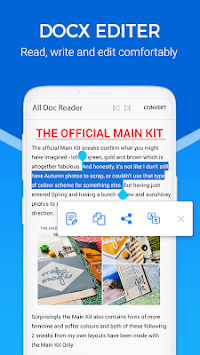 Docx Reader - Epub Reader & All Document Reader APK screenshot 3