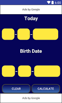 Age Calculator APK : Download v1 5 for Android at AndroidCrew