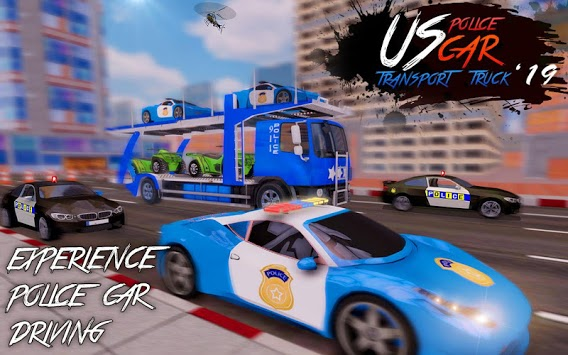 US Police Car Transport Truck 2019 APK screenshot 1
