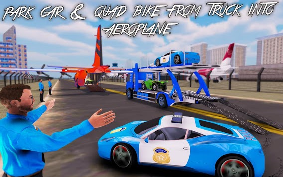 US Police Car Transport Truck 2019 APK screenshot 3