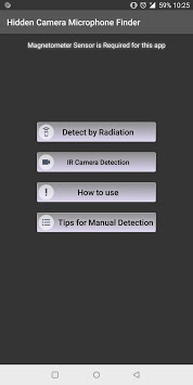 Detect Hidden Cameras and Microphones- Detect Bugs APK screenshot 1