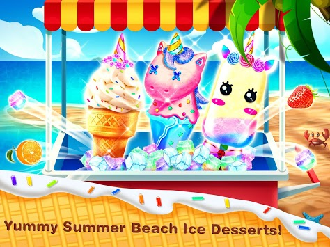 Ice Cream& Ice Popsicle Mania - Ice Dessert Maker APK screenshot 1