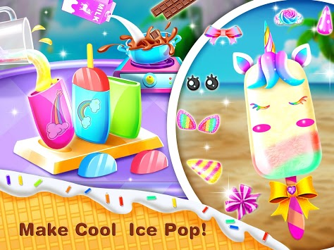 Ice Cream& Ice Popsicle Mania - Ice Dessert Maker APK screenshot 2