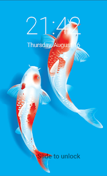 Koi fish lock screen japanese koi fish 3D locker APK screenshot 1 ...