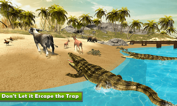 Crocodile Simulator : Animal attack Crocodile Game APK screenshot 1