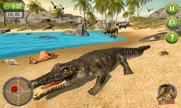 Crocodile Simulator : Animal attack Crocodile Game APK screenshot 2
