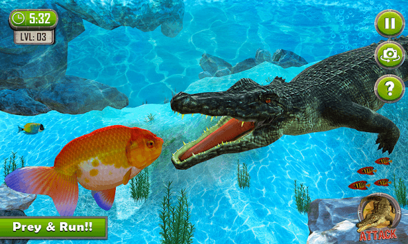 Crocodile Simulator : Animal attack Crocodile Game APK screenshot 3