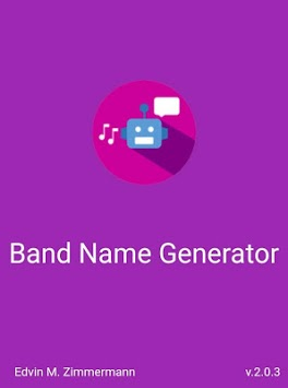Band Name Generator APK : Download v2 0 4 for Android at