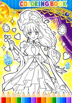 How To Color Pretty Cure APK screenshot 1