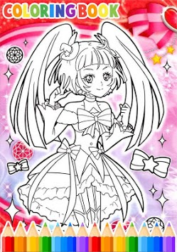 How To Color Pretty Cure APK screenshot 3
