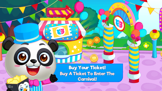 Panda Panda Funfair Party APK screenshot 1