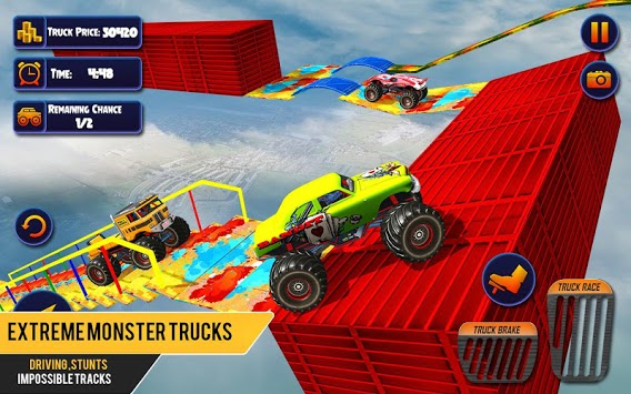 US Monster Truck Driving: Impossible Truck Stunts APK screenshot 1