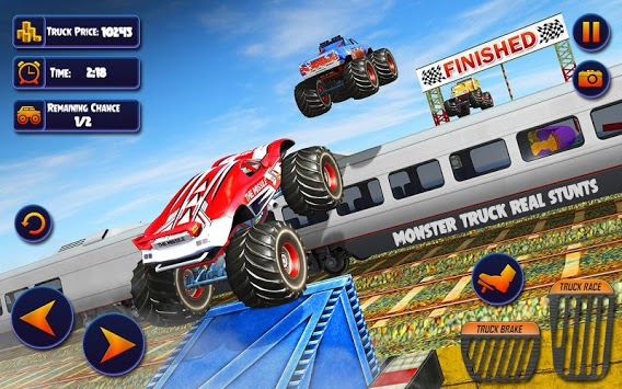 US Monster Truck Driving: Impossible Truck Stunts APK screenshot 2