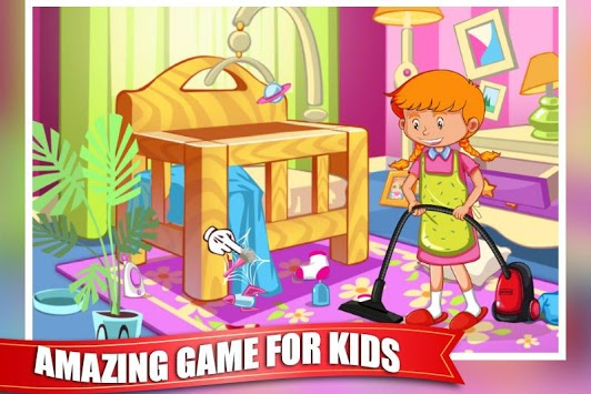 Princess Doll House Cleaning Game for Girls APK screenshot 1