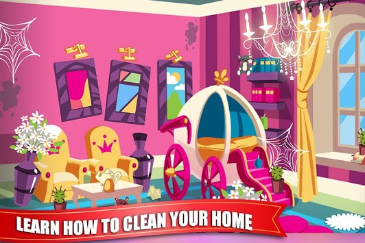 Princess Doll House Cleaning Game for Girls APK screenshot 2