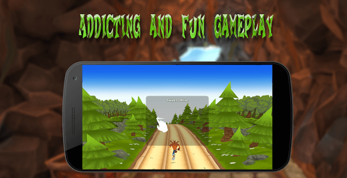 Crash jungle run APK screenshot 2