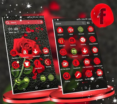 Rose in Black Launcher Theme APK : Download v1 1 for Android