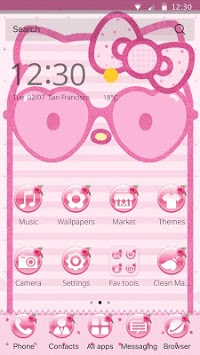 Pink Kitty Theme Kawaii icon packs pink wallpaper APK : Download v1