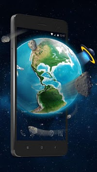 3D Earth Asteroid in Space Live Theme APK : Download v1 1 1 for