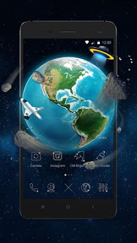 3D Earth Asteroid in Space Live Theme APK : Download v1 1 1