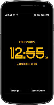 Neon digital clock free APK : Download v1 3 for Android at