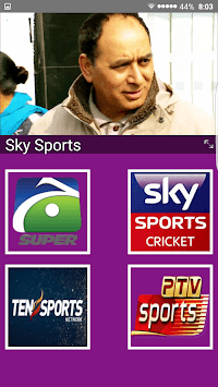 Live Cricket TV HD, PTV Sports, live express news APK screenshot 3