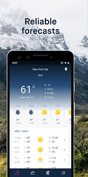 WeatherPro: Forecast, Radar & Widget APK screenshot 2